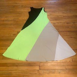 2/$25  - MAXI Colour-Block Dress - Size 12 (XL).